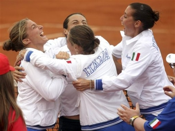 ITALY RUSSIA TENNIS FED CUP